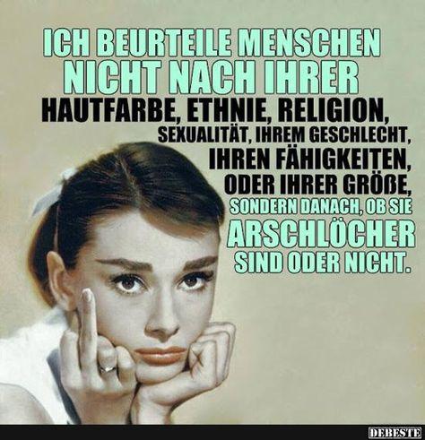 Ich beurteile Menschen nicht nach ihrer Hautfarbe, Ethnie, Religion.. | Lustige Bilder, Sprüche, Witze, echt lustig