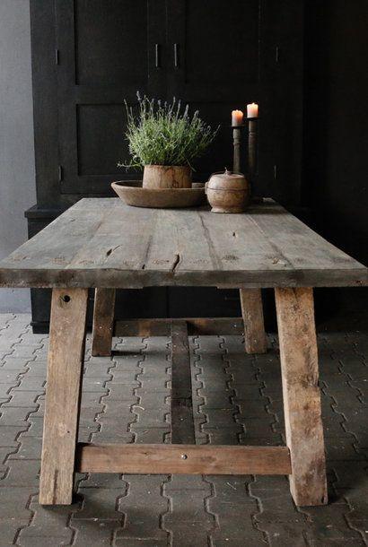 Robuster Design Holztisch (Massivholz) in 2020 | Küche tisch