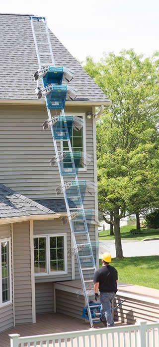 Ladder Lift - Roofing, Shingle Elevator - Power Ladder Platform