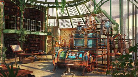 The Alchemist Laboratory by Kashuse on DeviantArt. The Alchemist Laboratory, Steampunk environment made with Maya Autodesk and Photoshop.