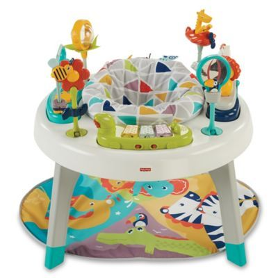 The Animal Themed Fisher Price 3 In 1 Sit To Stand Activity Center Will Be A Faithful Friend To Baby Th Baby Activity Center Infant Activities Activity Centers