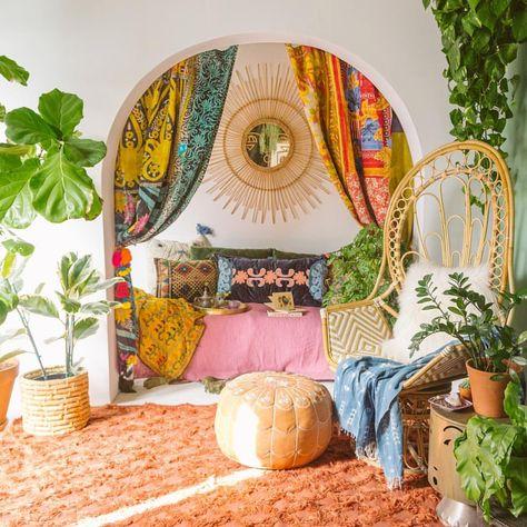 Heart-Warming Gypsy Home Decor Thoughts Bohemian House, Boho Room, Bohemian Decor, Boho Gypsy, Hippie Boho, Boho Chic, Bohemian Style, Hippy Room, Bohemian Furniture