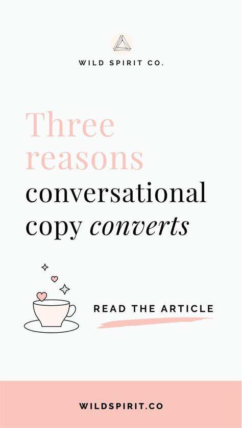 Three reasons conversational copy converts - Wild Spirit Copywriting