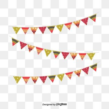 Birthday Party Decoration Hanging Flag Vector Png Cartoon