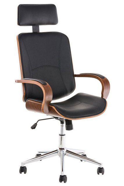 Schreibtischstuhl Dayton Kunstleder Mit Kopfstutze Und Leichtlaufrollen In 2020 Burostuhl Drehstuhl Stuhle