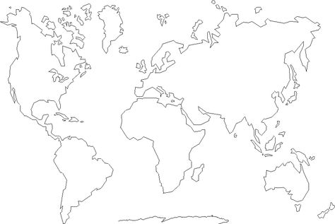 FREE Coloring And Label Map Of The Continents Geography Ideas - Basic world map outline