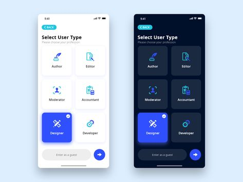 Daily UI - #64 Select User Type