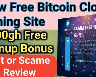 New Free Bitcoin Cloud Mining Site 2020