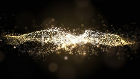 Beautiful Golden Particles Flowing Slow on Black Background Seamless. Looped 3d Stock Footage #AD ,#Flowing#Slow#Particles#Beautiful