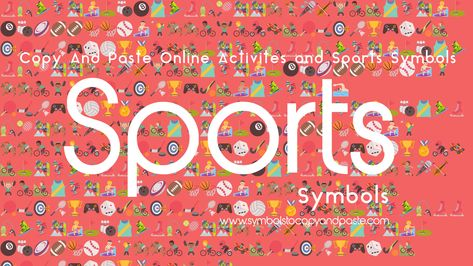 Sports Emojis - Copy and Paste Online Sports Text Symbols