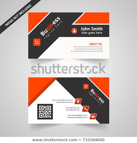 Orange Modern Creative Business Card And Name Card Horizontal Simple Clean Template Vector Design Layo Business Cards Creative Name Card Design Business Cards
