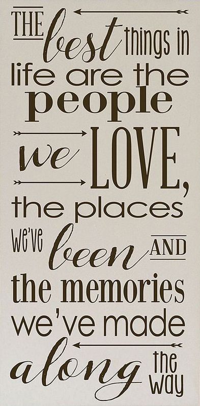 Elegant Vinyl Crafts Cream U0026 Brown Best Things In Life Wall Sign · Family Memories  QuotesFriends ...