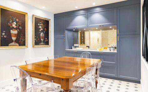 Cocina Classic Blue Con Office Y Lavadero En 2020 Cocinas
