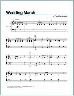 Wedding March Mendelssohn Printable Sheet Music For Piano Http