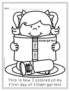 First Day Coloring Worksheet Kindergarten Kindergarten First