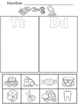 CLASIFICANDO CON EL ABECEDARIO ( LETRAS T, D, N, B) - FREE - (Fichas para el repaso de los consonantes T, D, N, y B y las silabas iniciales)