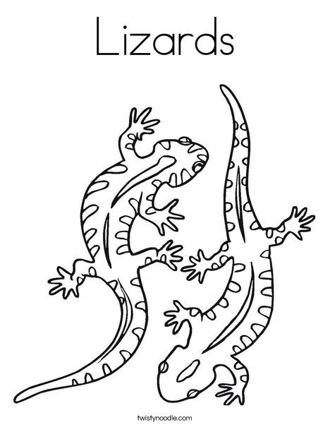 two lizard coloring page  ausmalbilder tiere