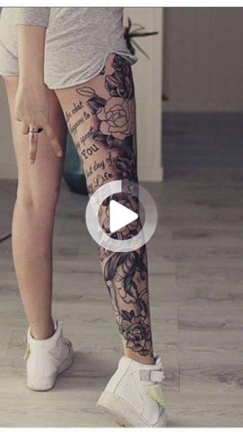 Les tatouages sur les jambes