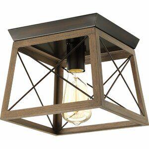 Laurel Foundry Modern Farmhouse Carmen 4 Light Lantern Geometric Pendant Reviews Wa Flush Mount Ceiling Lights Rustic Light Fixtures Flush Mount Lighting