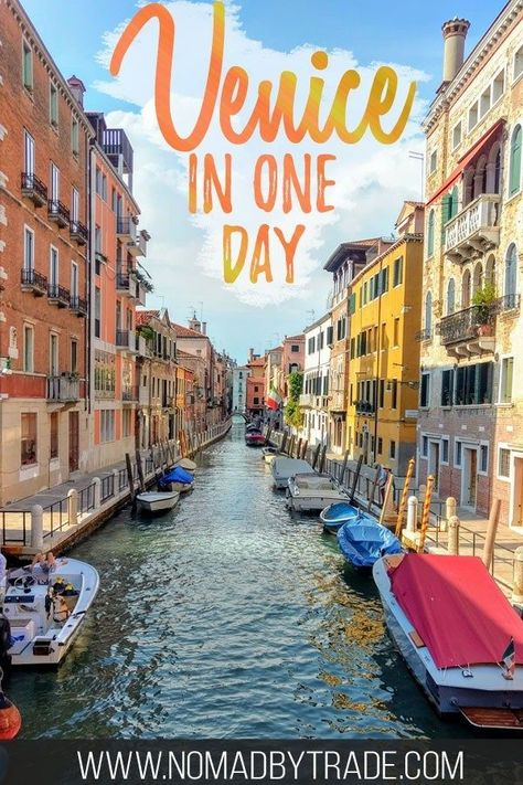 If you only have one day in Venice, Italy, you'll want to make the most of it and see the top sights in Venice. Including the Piazza San Marco, Doge's Palace, Grand Canal, a gondola ride, the Rialto Bridge, and more, this itinerary for Venice will guide you through the best of Venice in a day. #Venice #Italy #Europe #Travel
