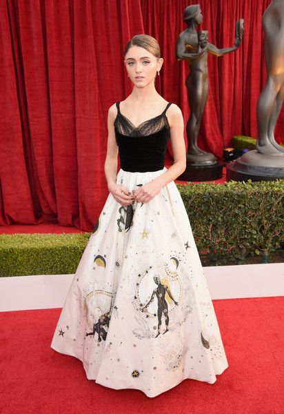 Actor Natalia Dyer attends the 24th Annual Screen Actors Guild Awards.