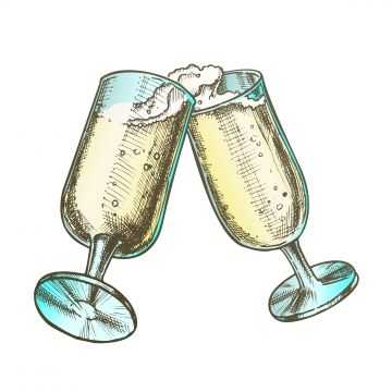 Two Elegant Champagne Glasses Color Vector Champagne Clipart Champagne Two Png And Vector With Transparent Background For Free Download Color Vector Champagne Glasses Color