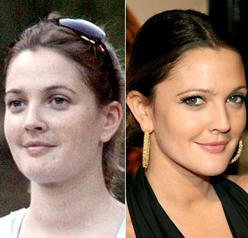 Celebrities Without Wearing Makeup Drew Barrymore Jpg Celebs Without Makeup Without Makeup Celebrity Makeup Transformation