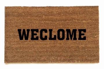 Weclome Dyslexic Doormat Door Mat Funny Doormats Funny Welcome Mat