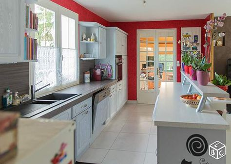 Cuisine Equipee Facades Chene Massif Gris Clair Ameublement Vendee