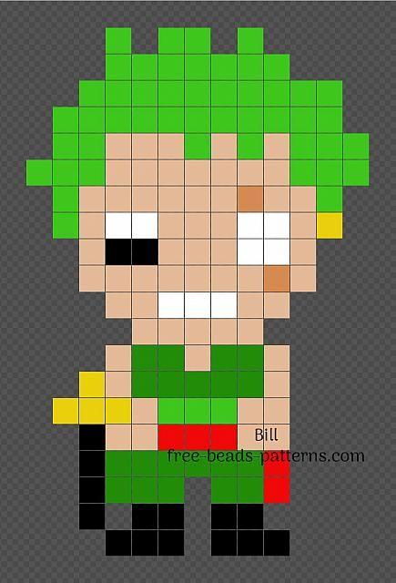 Roronoa Zoro One Piece Character Iron Beads Pixel Art