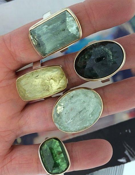 rings stacked - Jamie Joseph #stonerings