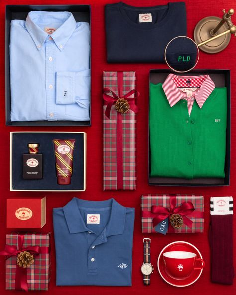 Add a personal touch to Christmas gifts with a custom monogrammed shirt from Red Fleece by Brooks Brothers. Browse our monogram shop to customize a selection of sweaters, button downs, polos and t-shirts for men and women with a wide variety of colors and placements. Visit www.brooksbrothers.com to shop.