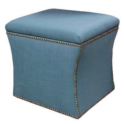 Pleasant Melbourne Linen Storage Ottoman Teal Target Patti In Uwap Interior Chair Design Uwaporg