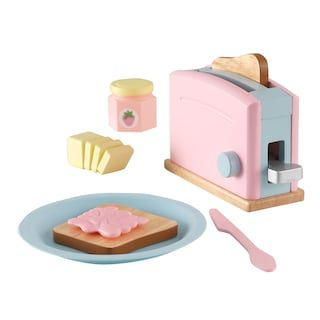 Kidkraft Wooden Toaster Set Kohls Play Kitchen Accessories Play Food Set Toy Kitchen