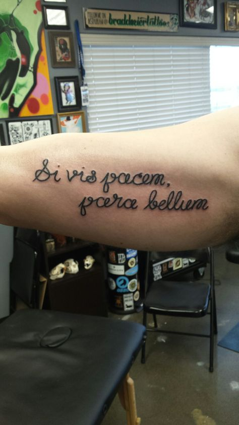 To have peace you must prepare for war.  Si vis pacem, para bellum