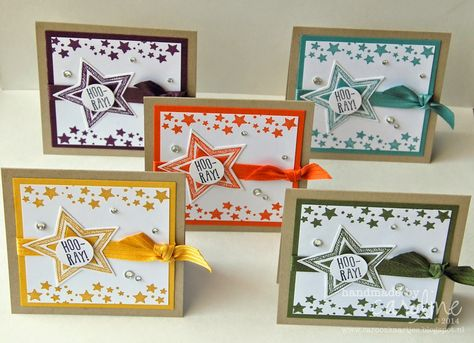 BLOGHOP - Hello There Be the Star Stampin' Up! mini cards Be The Star Star framelits