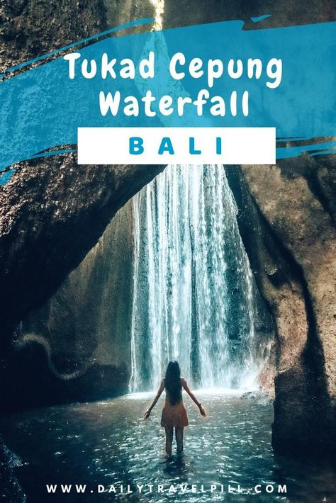 Visit Tukad Cepung Waterfall Bali and discover this unique place. One of the must beautiful waterfalls in Bali, Tukad Cepung is a must visit. #tukadcepung #baliwaterfalls #tukadcepungwaterfall #hiddenwaterfalls #bali