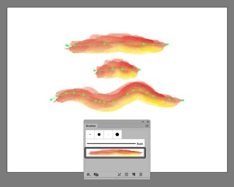 How To Make A Watercolor Brush In Adobe Illustrator Graphic