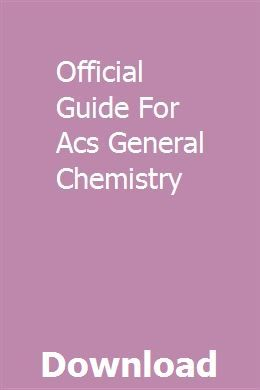 Acs General Chemistry Study Guide Online