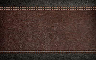 تحميل خلفيات براون جلدية الملمس 4k الخطوط الجلدية البني خلفية خشبية جلدية القوام جلد الخلفيات ماكرو الجلود Besthqwallpapers Com Stitching Leather Royalty Free Photography Image Stitching