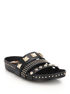 Ivy Kirzhner - Tank Studded Leather Slides | shoes | Pinterest | Studded  leather, Ivy and Shoes sandals