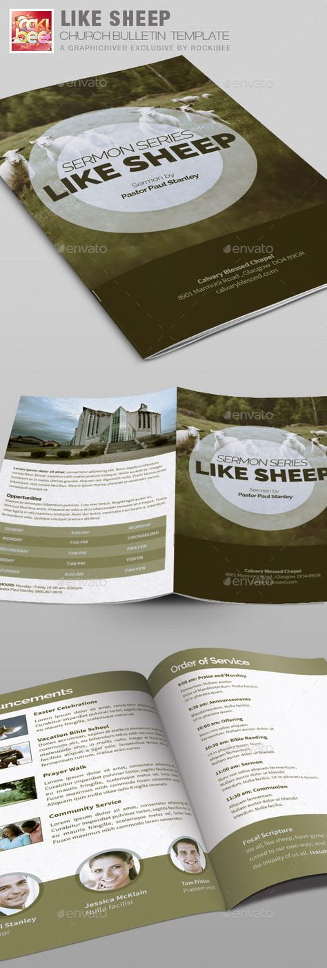 Cut To The Chase Church Bulletin Template Is Especially Designed