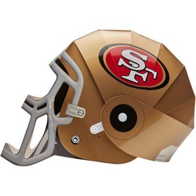 San Francisco 49ers Helmet Fanmask 7 1 2in X 10 1 4in Party City In 2020 49ers Helmet Football Helmets San Francisco 49ers