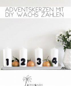 Diy Adventskerzen Adventskranz Mit Kerzenwachs Zahlen Weihnachten