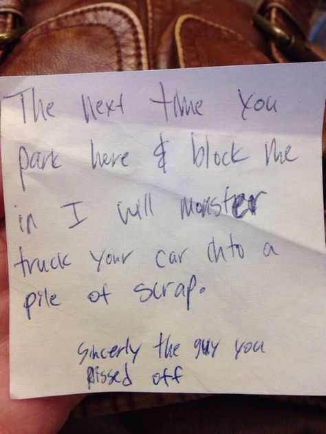 ever have someone block your driveway?