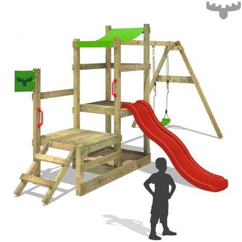 Spielturm Mit Rutsche Rabbitrally Klettergerust Schaukel Holz Spielturm Schaukel Holz Garten