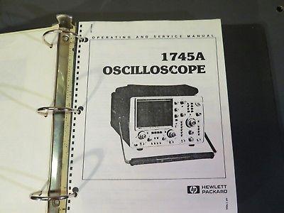 Sponsored Ebay Hp 1745a Oscilloscope Operating Service Manual 4605 J Ebay Function Generator Things To Sell