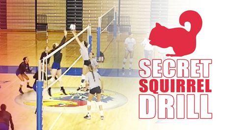 Secret Squirrel Drill The Art Of Coaching Volleyball Coaching Volleyball Volleyball Practice Volleyball Drills
