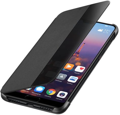 Official Huawei P20 Pro Smart View Flip Case Black Leather Phone Case Phone Case Cover Huawei Wallpapers