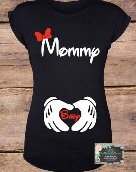 44fa21f9319ab Minnie Mouse Pregnancy Announcement Shirt-Maternity Shirt-Cute Mom Shirts- Baby Shower Gift-Disney Sh